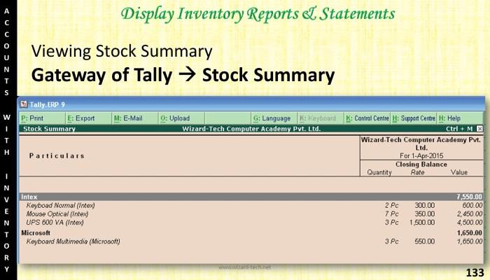 tally (133)